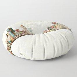 atlanta skyline Floor Pillow