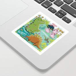 Unicorns & Dinosaurs Sticker