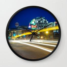 Early Morning Traffic In Roanoke VA Wall Clock