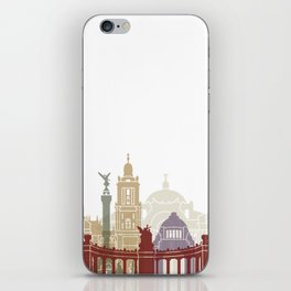Mexico city skyline poster iPhone Skin