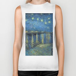 STARRY NIGHT OVER RHONE - VAN GOGH Biker Tank