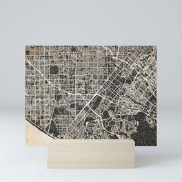 Santa Ana map California Ink lines Mini Art Print