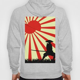 Japanese Art Sun Samurai Warrior Bushido Martial Arts Hoody
