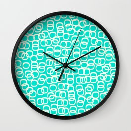 Black Tie Collection Links Teal Colorway Wall Clock