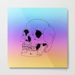 Sunset skull Metal Print
