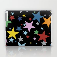 Multi Stars Black Laptop & iPad Skin