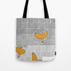 Pencil Birds Tote Bag