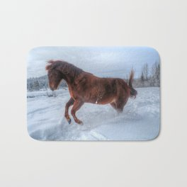 Fire and Ice - Equine Photography Bath Mat
