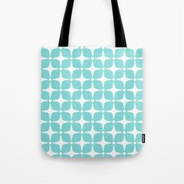 Mid Century Modern Star Pattern 731 Turquoise Tote Bag
