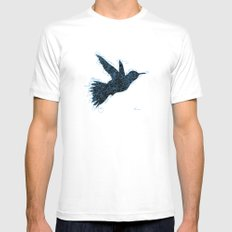 Bird Fly No. 1 (Black/Aqua) Mens Fitted Tee White SMALL