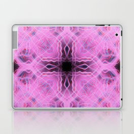 Pink light trails cross pattern Laptop & iPad Skin