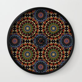 Stained Glass Mandalas Wall Clock