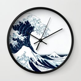 The Great Wave - Halftone Wall Clock