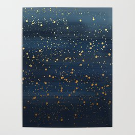Starry Night Abstract Poster