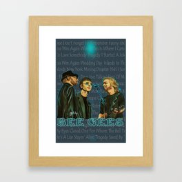 Bee Gee's Poster Framed Art Print