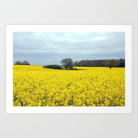 landscape in yellow Art Print