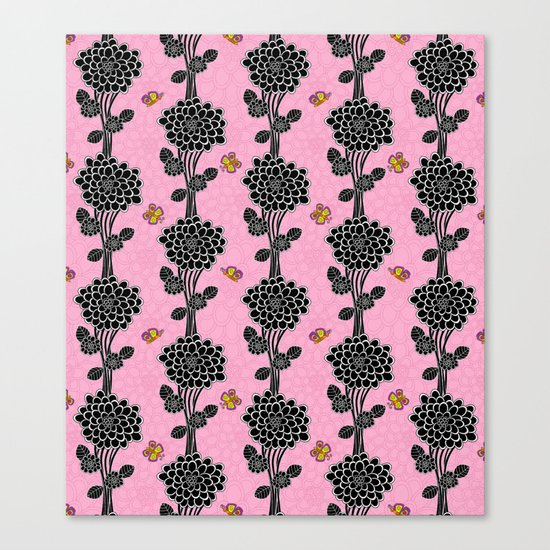 Flowered tree. in pink Canvas Print