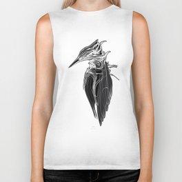 Kingfisher 1b.  White on black  background-(Red eyes series) Biker Tank