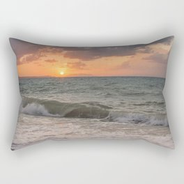 Thyrrenian Sea at sunset Rectangular Pillow