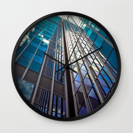 architecture skyscraper Wall Clock