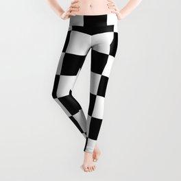 Checkered - White and Black Leggings