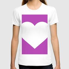 Heart (White & Purple) T-shirt