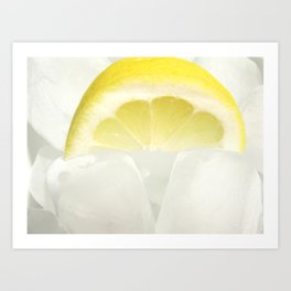 Lemon ice Art Print