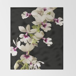 Calanthe rosea Orchid Throw Blanket
