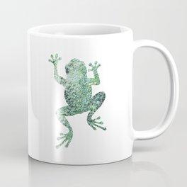 green lichen crawling frog silhouette Coffee Mug