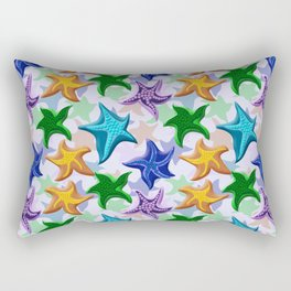Glitter Beaded Starfish Rectangular Pillow