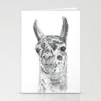 llama Stationery Cards featuring Llama by Condor