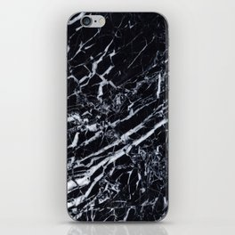 Real Marble Black iPhone Skin