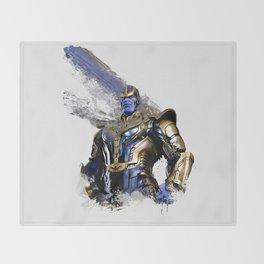 Thanos digital artwork Throw Blanket