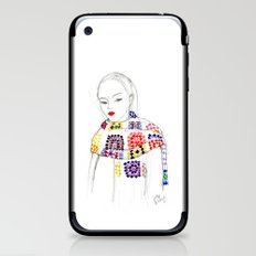 Rainbow Crochet iPhone & iPod Skin