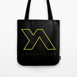 Youth Alive Yellow & Black on Black Tote Bag