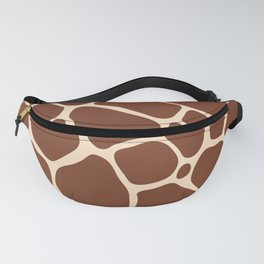 Dark Brown Giraffe Skin - Wild Animal Fanny Pack