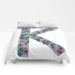 K Initial Comforters