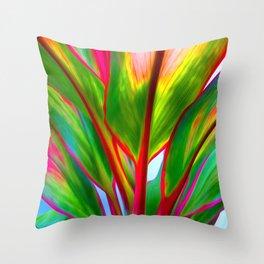 Ti Leaf Series #4 Throw Pillow