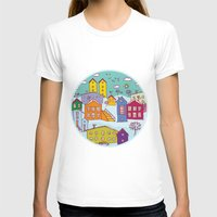 cityscape T-shirts featuring Cityscape Sketch by EkaterinaP