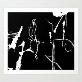 Asemic Graphic Art Print