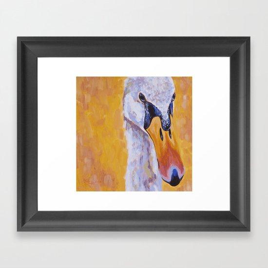 earnest swan Framed Art Print