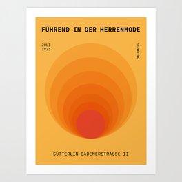 Sun Spiral   Bauhaus I Art Print