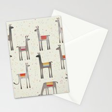 Llamas in the Meadow Stationery Cards