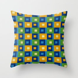 Summer laziness. Squares inside each other. Throw Pillow