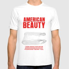 American Beauty Movie Poster MEDIUM Mens Fitted Tee White