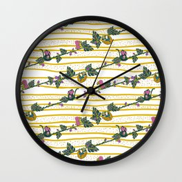 Jungle Animal Vines Wall Clock
