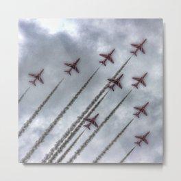 Red Arrows Metal Print