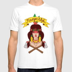 Dangerous Girls - Indian  SMALL Mens Fitted Tee White