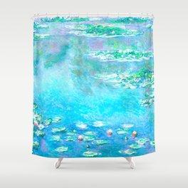 Monet Water Lillies Remix Shower Curtain