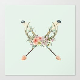 arrows and flowers Canvas Print